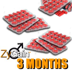 ZyGain® Male Enhancement Pills 3 Months